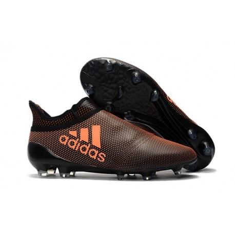Adidas X 17+ Purespeed FG - Chaussures de Foot pour Hommes Orange Noir