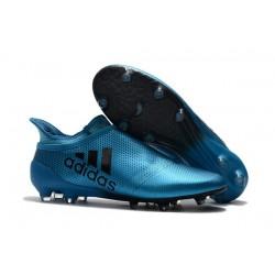 Adidas X 17+ Purespeed FG - Chaussures de Foot pour Hommes Bleu Noir