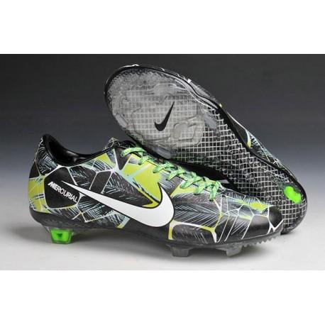 Chaussure de Football Nike Mercurial Vapor IX FG Hommes Tropical Pack Vert Noir Blanc