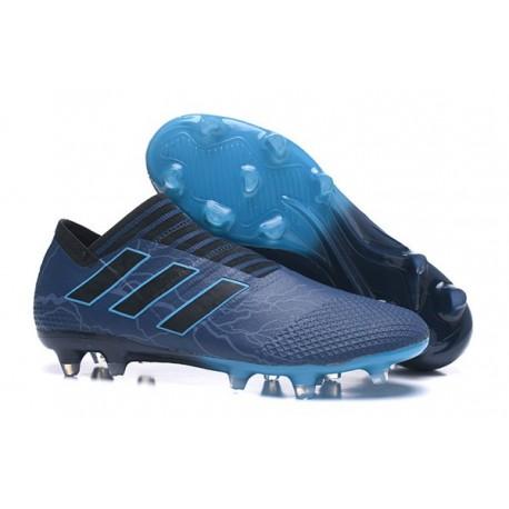 Crampons - Nouveau Adidas Nemeziz 17+ 360 Agility FG Bleu Noir