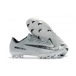Nouveau Chaussures de Foot Nike Mercurial Vapor 11 FG CR7 Gris Noir Blanc