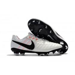 Nike Tiempo Legend VII FG - Chaussures de Football pour Hommes Blanc Noir