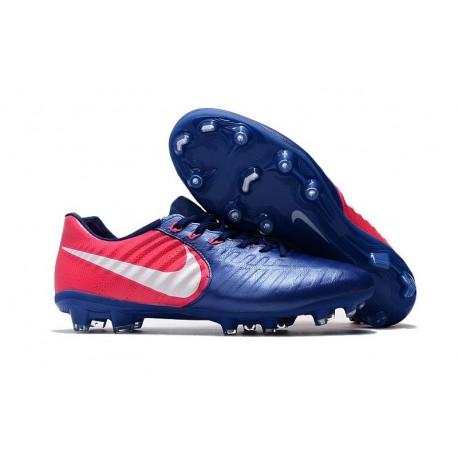 Nike Tiempo Legend VII FG - Chaussures de Football pour Hommes Bleu Rose