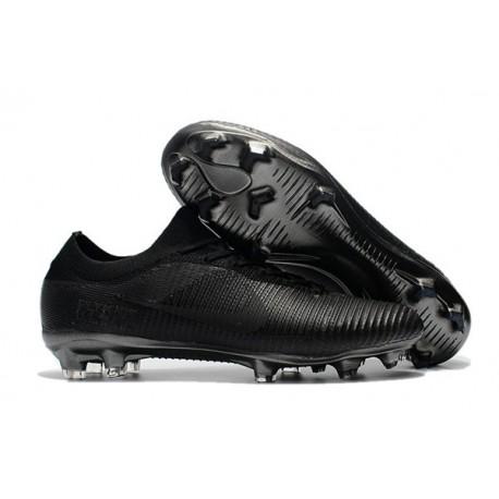 Nike Mercurial Vapor Flyknit Ultra FG - Crampons Nouveau Nike Tout Noir