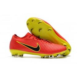 Nike Mercurial Vapor Flyknit Ultra FG - Crampons Nouveau Nike Rouge Jaune Noir