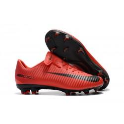 Chaussures de Foot Nike Mercurial Vapor XI FG Rouge Noir