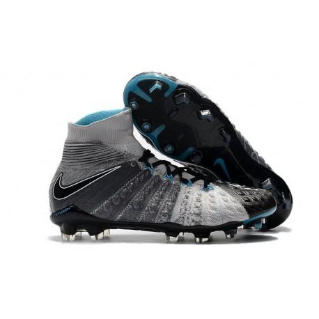 Chaussure Hypervenom Phantom III ACC DF FG pour Hommes Gris Noir Bleu