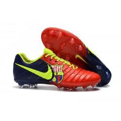 Nike Tiempo Legend VII FG - Chaussures de Football pour Hommes Rouge Bleu Volt