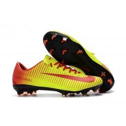 Chaussures de Foot Nike Mercurial Vapor XI FG Rouge Jaune