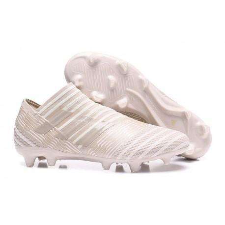 Chaussures de Football pour Hommes Adidas Nemeziz 17+ 360 Agility FG Marron clair Sésame Craie