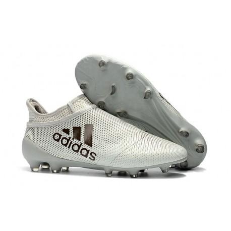 Adidas X 17+ Purespeed FG - Chaussures de Foot pour Hommes Blanc Noir