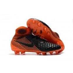 Chaussures de Foot Nike Magista Obra II FG Noir Blanc Rouge Université