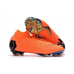 Chaussures football Nike Mercurial Superfly VI 360 Elite FG pour Hommes Orange Noir Volt