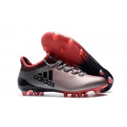 2018 Chaussures de Football - Adidas X 17.1 FG Gris Rose Noir