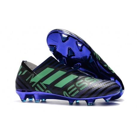 Chaussures de Football pour Hommes Adidas Nemeziz 17+ 360 Agility FG Encre Vert Noir
