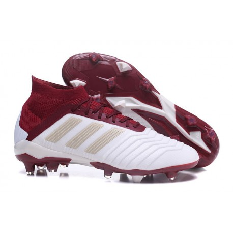 Chaussures de Football Pour Hommes - adidas Predator 18.1 FG Blanc Rouge