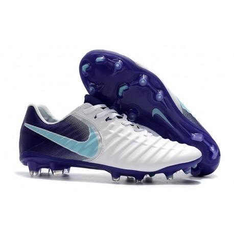 Nouvelles Crampons pour Hommes - Nike Tiempo Legend VII FG Blanc Violet