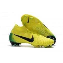 Chaussures football Nike Mercurial Superfly VI 360 Elite FG pour Hommes Jaune Noir