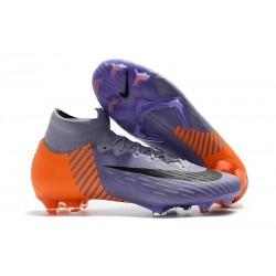 Chaussures football Nike Mercurial Superfly VI 360 Elite FG pour Hommes Violet Orange Noir