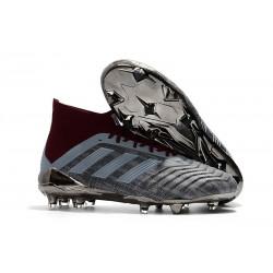 Chaussures de Football Pour Hommes - adidas Paul Pogba Predator 18.1 FG Iron Metallic