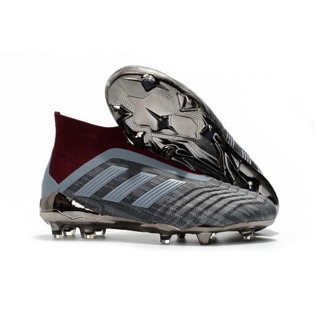 Chaussures de Football 2018 - adidas PP Predator 18+ FG Iron Metallic