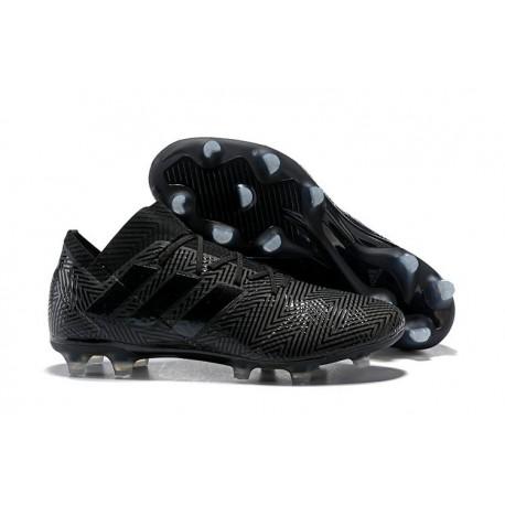 Nouvelles Crampons Foot Adidas Nemeziz Messi 18.1 FG Tout Noir