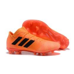 Nouvelles Crampons Foot Adidas Nemeziz Messi 18.1 FG Zeste Noir Rouge