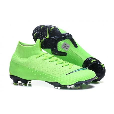 Chaussures football Nike Mercurial Superfly VI 360 Elite FG pour Hommes Vert Noir