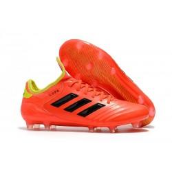 Chaussures de Football Pas Cher - Adidas Copa 18.1 FG Rouge Jaune