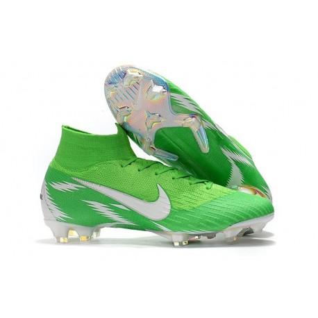 Chaussures football Nike Mercurial Superfly VI 360 Elite FG pour Hommes Argent Vert