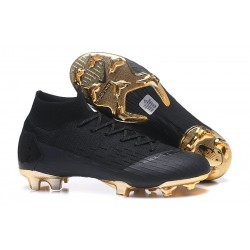 Chaussures football Nike Mercurial Superfly VI 360 Elite FG pour Hommes Or Noir
