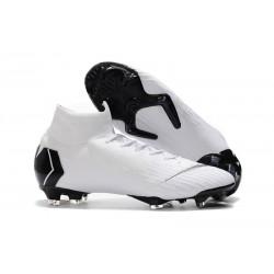 Chaussures football Nike Mercurial Superfly VI 360 Elite FG pour Hommes Blanc Noir