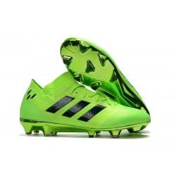 Nouvelles Crampons Foot Adidas Nemeziz Messi 18.1 FG Vert Noir