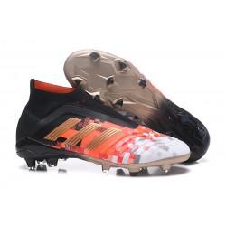 Chaussures de Football 2018 - adidas Predator Telstar 18+ FG Noir Cuivre Gris