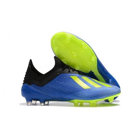 Chaussures de football 2018 - Adidas X 18.1 FG - Bleu Jaune Noir