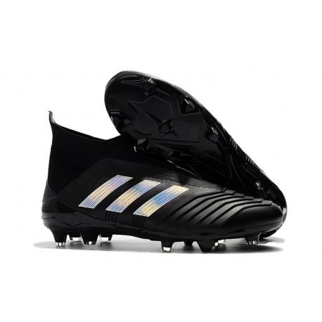 Chaussures de Football 2018 - adidas Predator 18+ FG Noir Argent