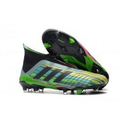 Chaussures de Football 2018 - adidas Predator 18+ FG Melange de Couleurs Vert Noir