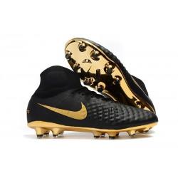 Chaussures de Foot Nike Magista Obra II DF ACC FG Or Noir