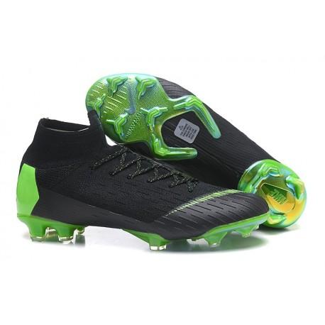 Nouveau Chaussures Football Nike Mercurial Superfly 6 360 Elite FG Vert Noir