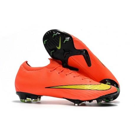 Crampons de Foot Nike Mercurial Vapor XII Elite FG Orange Jaune