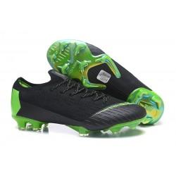 Nouveau Chaussures Football Nike Mercurial Vapor XII Elite FG Vert Noir