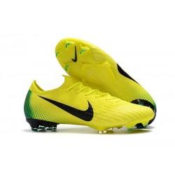 Crampons de Foot Nike Mercurial Vapor XII Elite FG Jaune Volt Noir