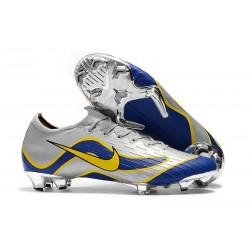 Nouveau Chaussures Nike Mercurial Vapor XII 360 ACC Elite FG Argent Bleu Jaune