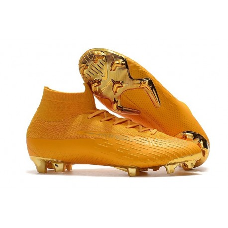 Chaussures football Nike Mercurial Superfly VI 360 Elite FG pour Hommes Or