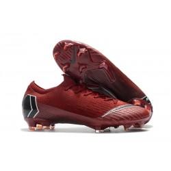 Crampons de Foot Nike Mercurial Vapor XII Elite FG pour Hommes Rouge Noir