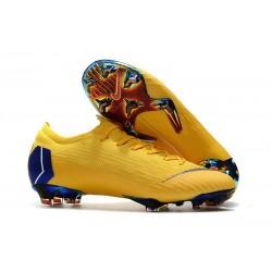 Crampons de Foot Nike Mercurial Vapor XII Elite FG pour Hommes Jaune Bleu