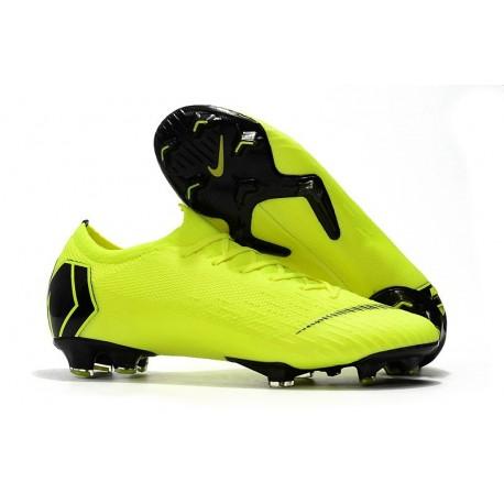 Nouveau Crampons de Football Nike Mercurial Vapor XII Elite FG Jaune Fluorescent