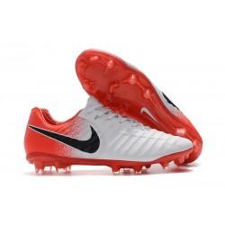 Nouveau Chaussures de Football - Nike Tiempo Legend VII FG Blanc Rouge Noir