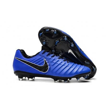 Nouveau Chaussures de Football - Nike Tiempo Legend VII FG Bleu Noir