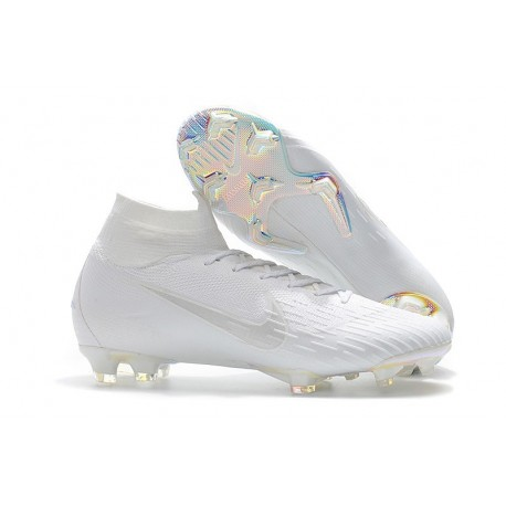 Chaussures football Nike Mercurial Superfly VI 360 Elite FG pour Hommes Tout Blanc